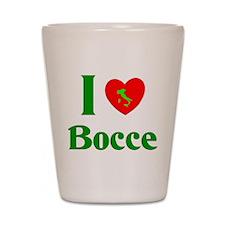 I Love Bocce Shot Glass