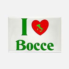 I Love Bocce Rectangle Magnet