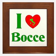 I Love Bocce Framed Tile
