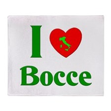 I Love Bocce Throw Blanket