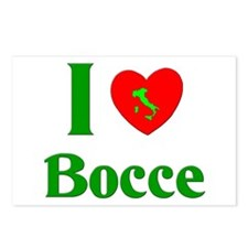 I Love Bocce Postcards (Package of 8)