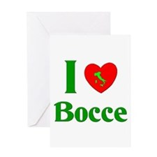 I Love Bocce Greeting Card