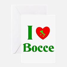 I Love Bocce Greeting Card