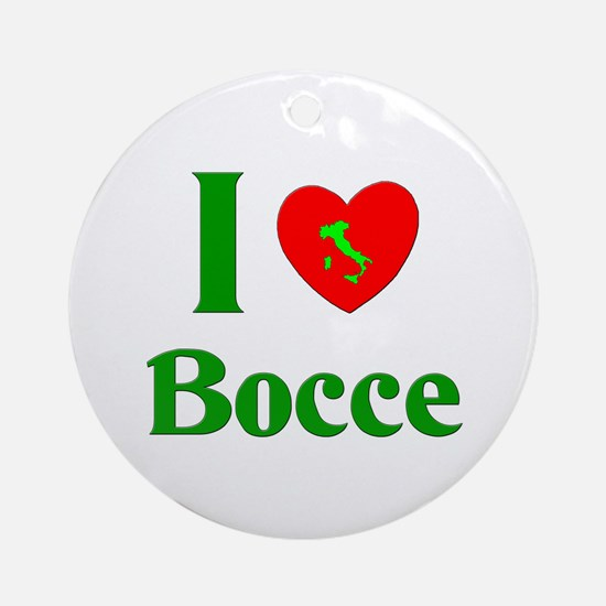 I Love Bocce Ornament (Round)
