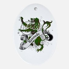 Kennedy Tartan Lion Ornament (Oval)