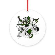 Kennedy Tartan Lion Ornament (Round)