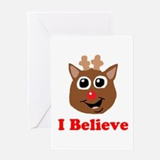 I Believe Rudolph Greeting Card