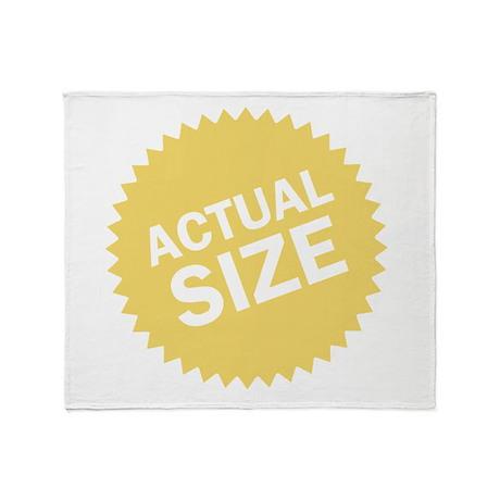 Actual Size Throw Blanket