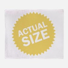 Actual Size Throw Blanket