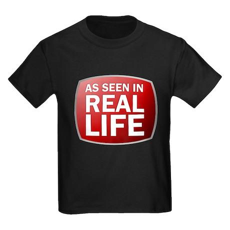 As Seen In Real Life Kids Dark T-Shirt