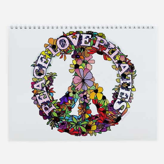 Peace Love Pilates by Svelte.biz Wall Calendar
