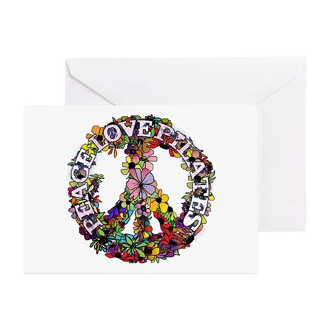 Peace Love Pilates by Svelte.biz Greeting Cards (P