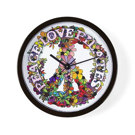 Peace Love Pilates by Svelte.biz Wall Clock