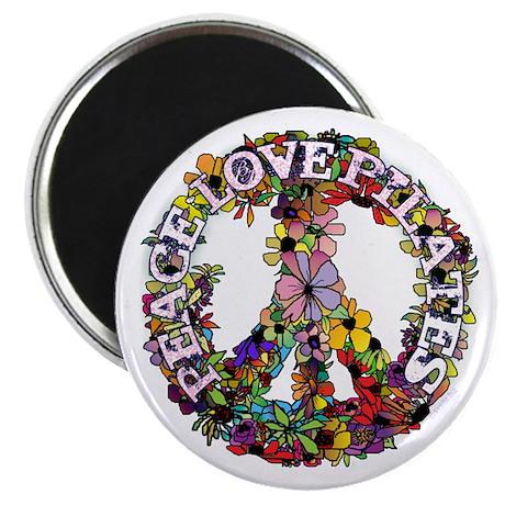 "Peace Love Pilates by Svelte.biz 2.25"" Magnet"