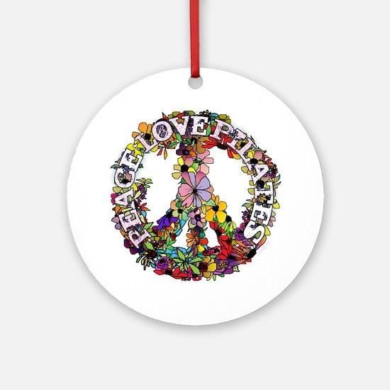 Peace Love Pilates by Svelte.biz Ornament (Round)