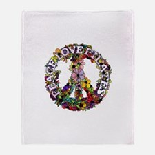 Peace Love Pilates by Svelte.biz Throw Blanket