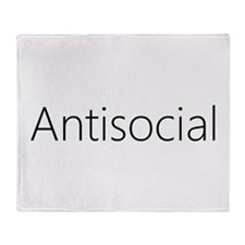 Antisocial Throw Blanket