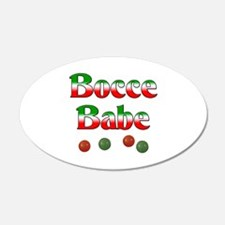 Bocce Babe 22x14 Oval Wall Peel