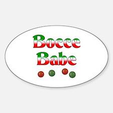Bocce Babe Sticker (Oval)