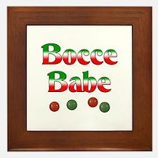 Bocce Babe Framed Tile