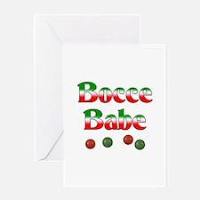 Bocce Babe Greeting Card