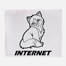 The Internet is for Cats Throw Blanket
