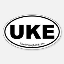 Ukulele Sticker (Euro-oval)