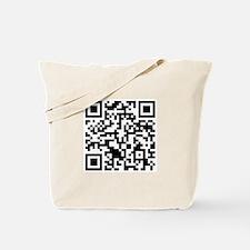 Rick Roll QR Code Tote Bag