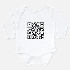 Rick Roll QR Code Long Sleeve Infant Bodysuit
