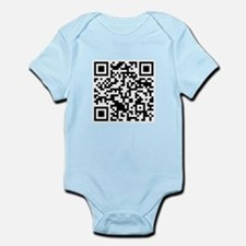 Rick Roll QR Code Infant Bodysuit