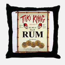Tiki King Rum Throw Pillow