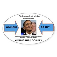 OBAMA URINAL STICKER Bumper Stickers