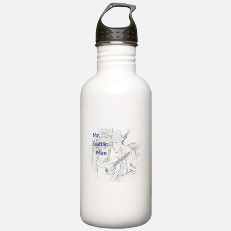 Mr. Guitar Man Water Bottle