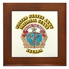 Army National Guard - Nevada Framed Tile