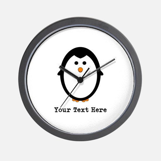 Personalized Penguin Wall Clock