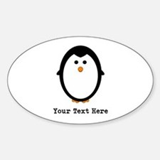 Personalized Penguin Sticker (Oval)