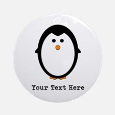 Personalized Penguin Ornament (Round)