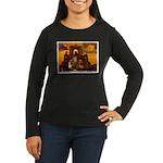 San Antonio, Texas Women's Long Sleeve Dark T-Shir