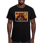 San Antonio, Texas Men's Fitted T-Shirt (dark)