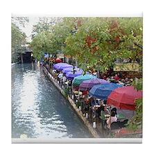 The Riverwalk in Art Tile Coaster