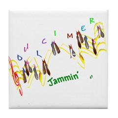 Dulcimers and Music Notes Tile Coaster