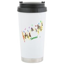 Dulcimers and Music Notes Travel Mug