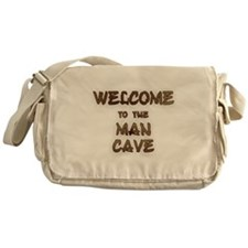 Welcome to the Man Cave Messenger Bag