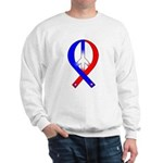 Patriotic Peace Ribbon Sweatshirt