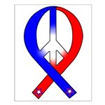 Patriotic Peace Ribbon Small Poster