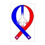 Patriotic Peace Ribbon Mini Poster Print