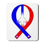 Patriotic Peace Ribbon Mousepad