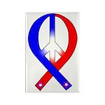 Patriotic Peace Ribbon Rectangle Magnet (100 pack)
