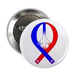 Patriotic Peace Ribbon Button