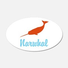 Narwhal 22x14 Oval Wall Peel